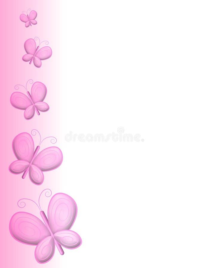pink för kantfjärilssida royaltyfri illustrationer