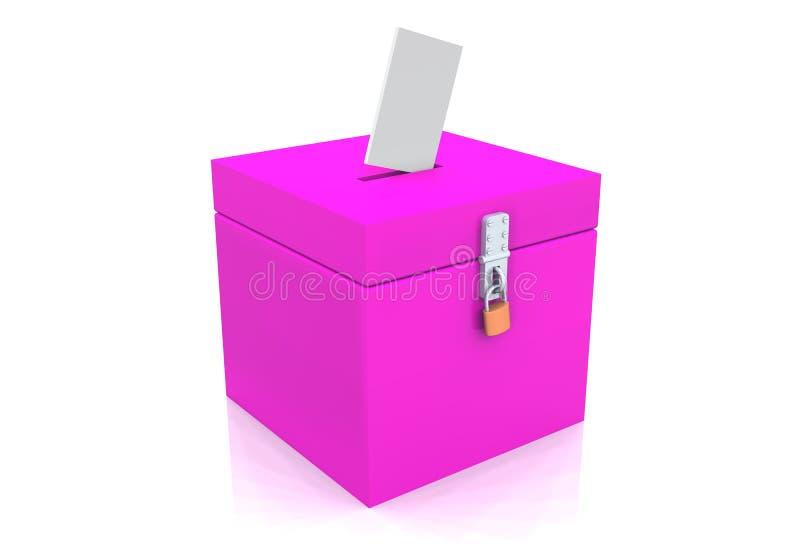pink för valurna 02 3d royaltyfri illustrationer