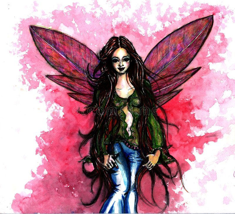 Download A Pink Fairy stock illustration. Illustration of tales - 1486712