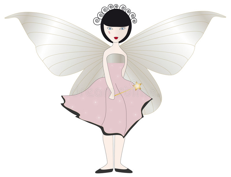 Download Pink Fairy stock illustration. Image of storybook, magic - 5612084