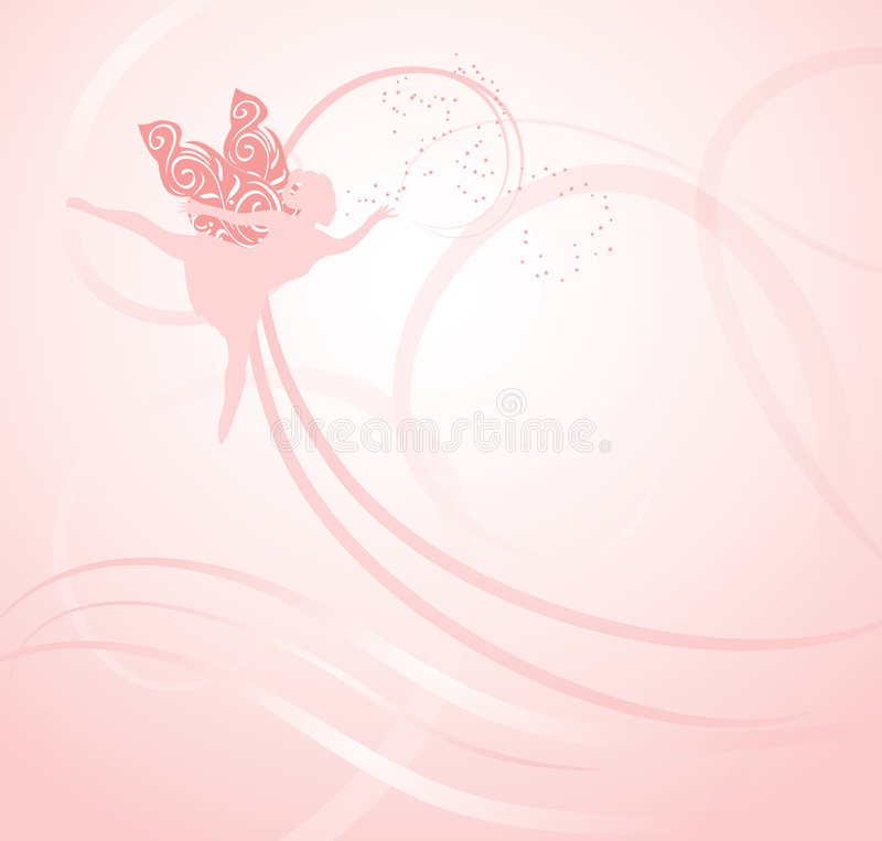 Pink Fairy Background Royalty Free Stock Photos