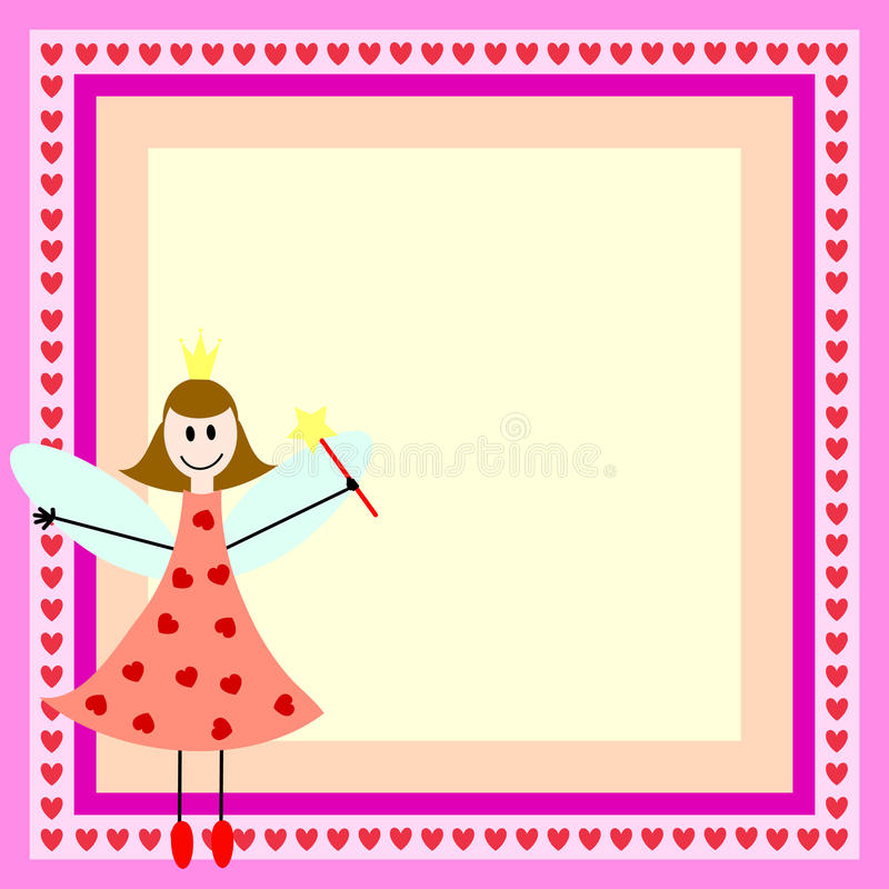 Download Pink fairy in frame stock vector. Image of butterfly - 15344563