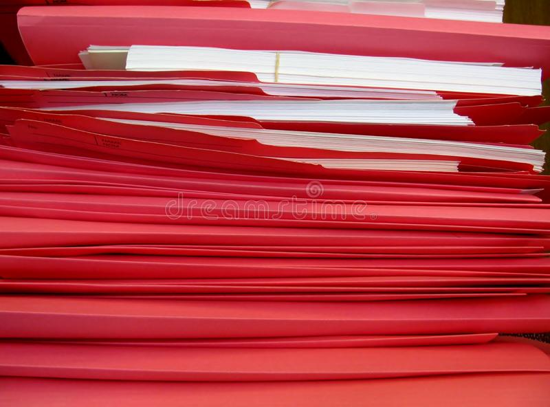 Pink file folders. Stock of pink file folders stock images