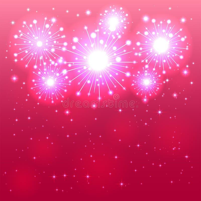 Pink firework stock illustration