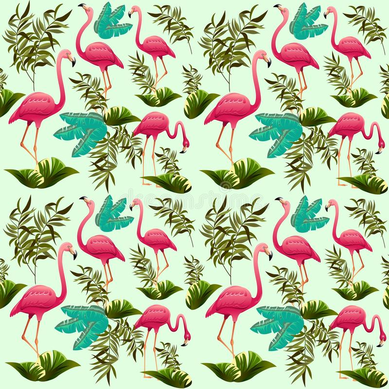 Download Pink Flamingos Vector Illustration.  Decorative Design Elements. Exotic Bird. Flamingo Shapes. Stock Vector - Illustration of slim, colorful: 72014037