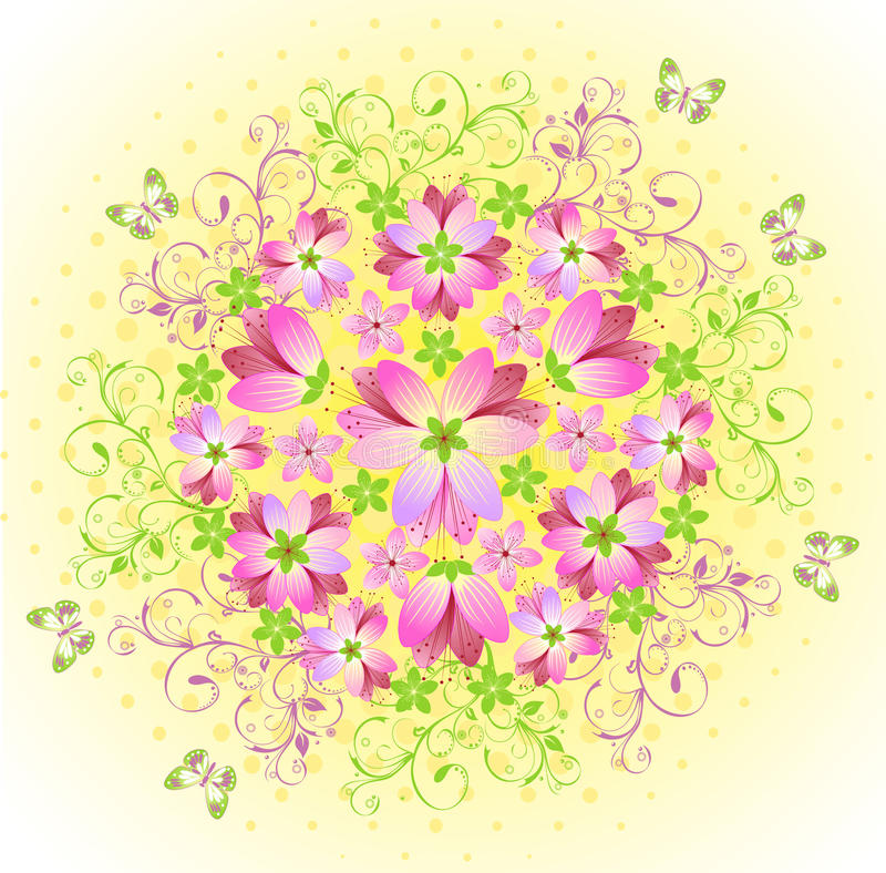 Download Pink Floral Abstract Background Stock Vector - Image: 14862597