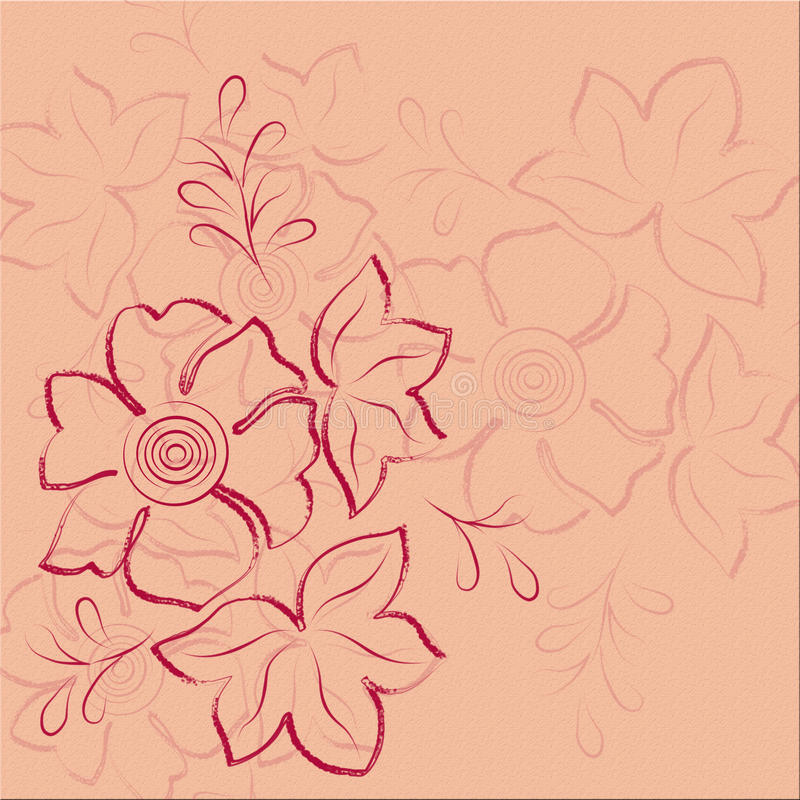 Download Pink Floral Abstract Background Stock Illustration - Image: 16266914