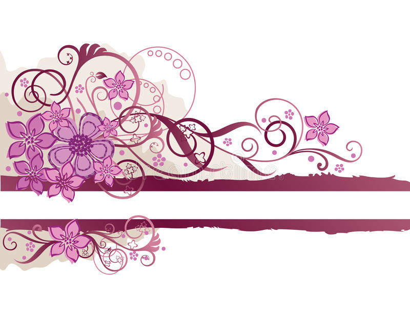 Download Pink floral border stock vector. Illustration of graphic - 13164174