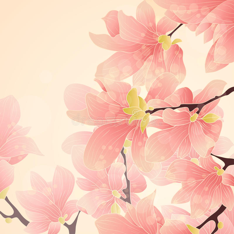 Download Pink floral border stock image. Image of group, card - 26988087