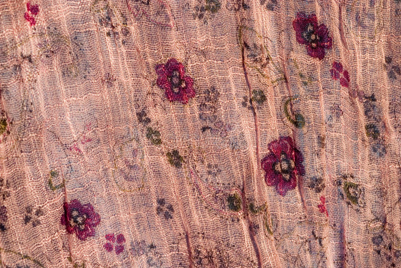 Pink floral cloth royalty free stock images
