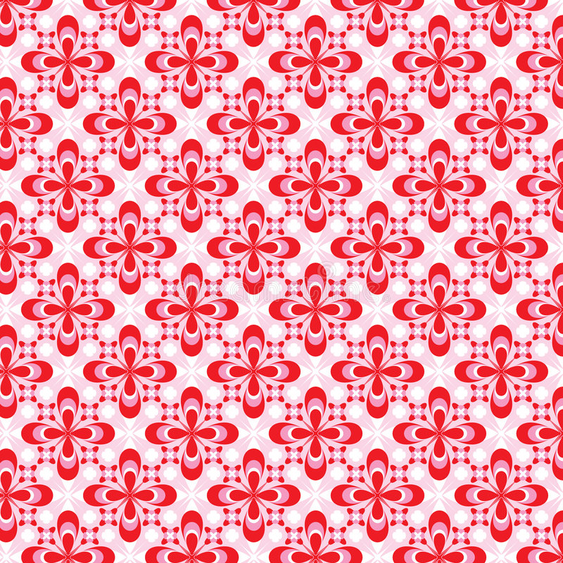 Pink Floral Pattern Stock Image