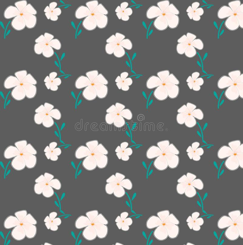 Pink florals seamless pattern in grey background royalty free stock photo