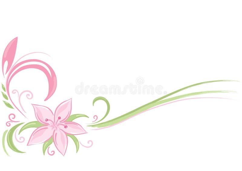 Pink flower vector illustration