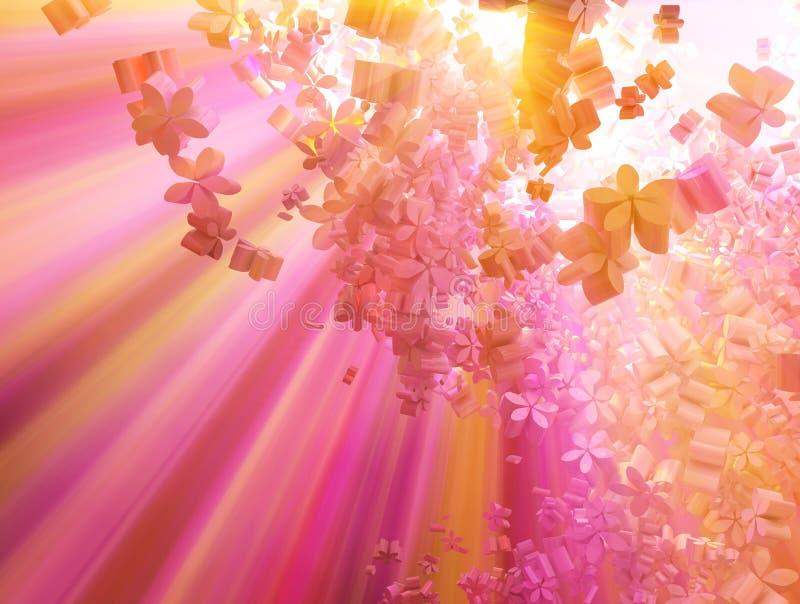 Download Pink Flower Cloud Light stock illustration. Illustration of background - 9849675