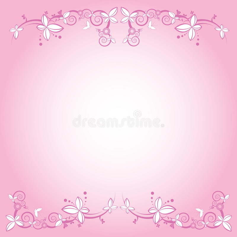 Pink Flower Decorative Frame Vector Stock Photography