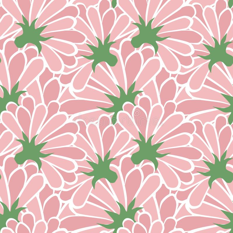 Pink flower floral pattern simple art design stock images