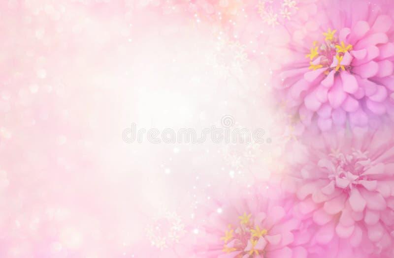 Download Pink Flower Frame On Soft Bokeh Vintage Background Stock Photo