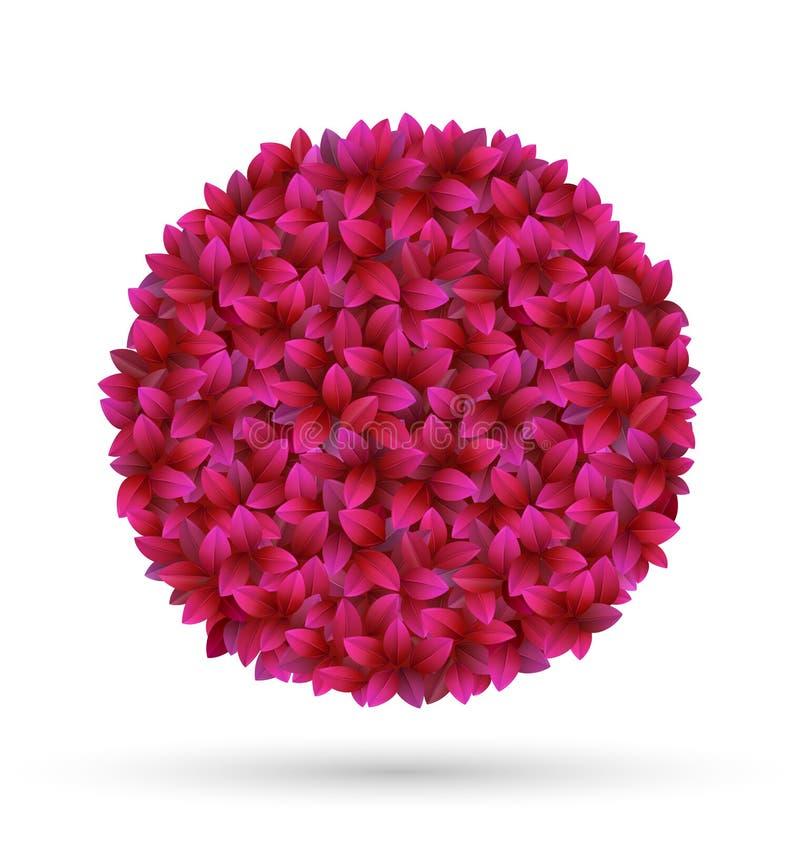 Free Pink Flower Petals Circle Frame On White Stock Image - 56692721
