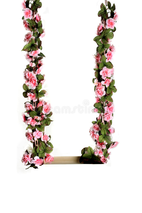 Pink flower swing royalty free stock images