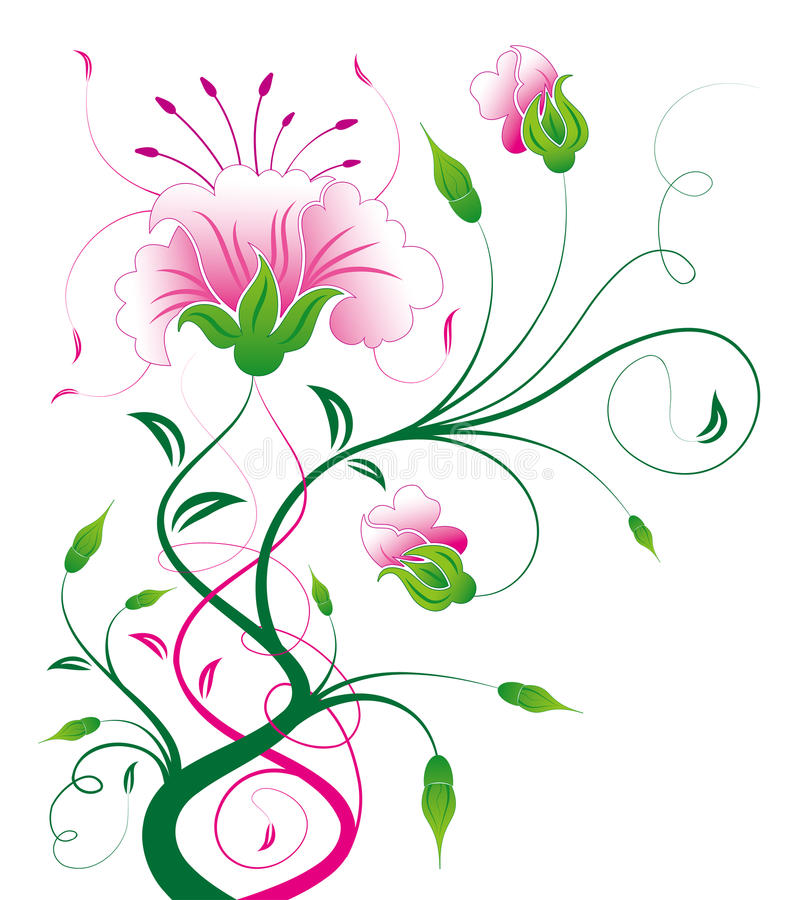 pink flower and vines royalty free stock photo  image, Beautiful flower
