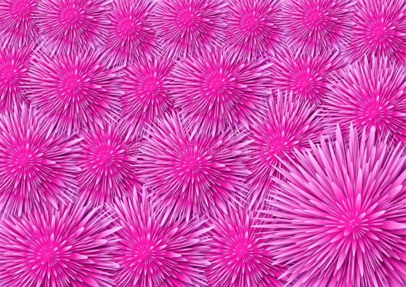 Pink flowers background royalty free illustration