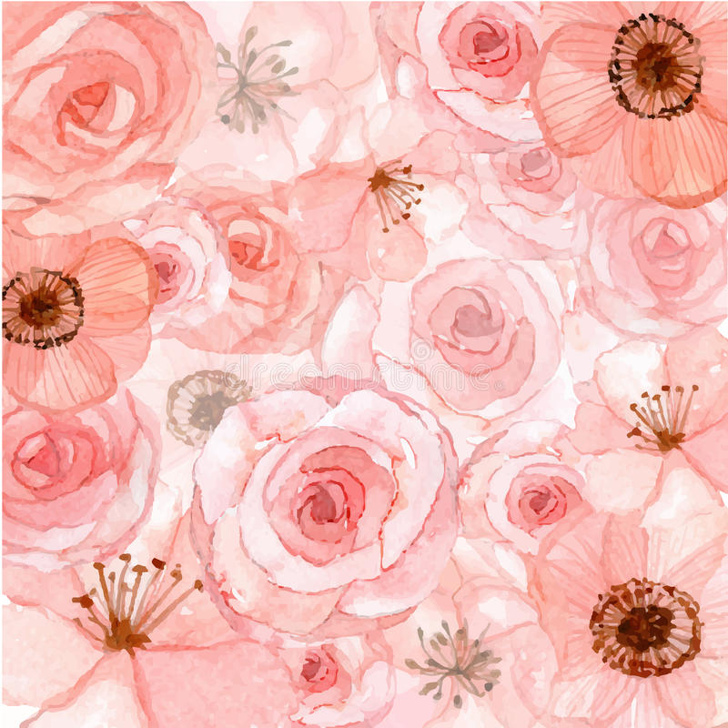 Free Pink Flowers Background Royalty Free Stock Photo - 51012015