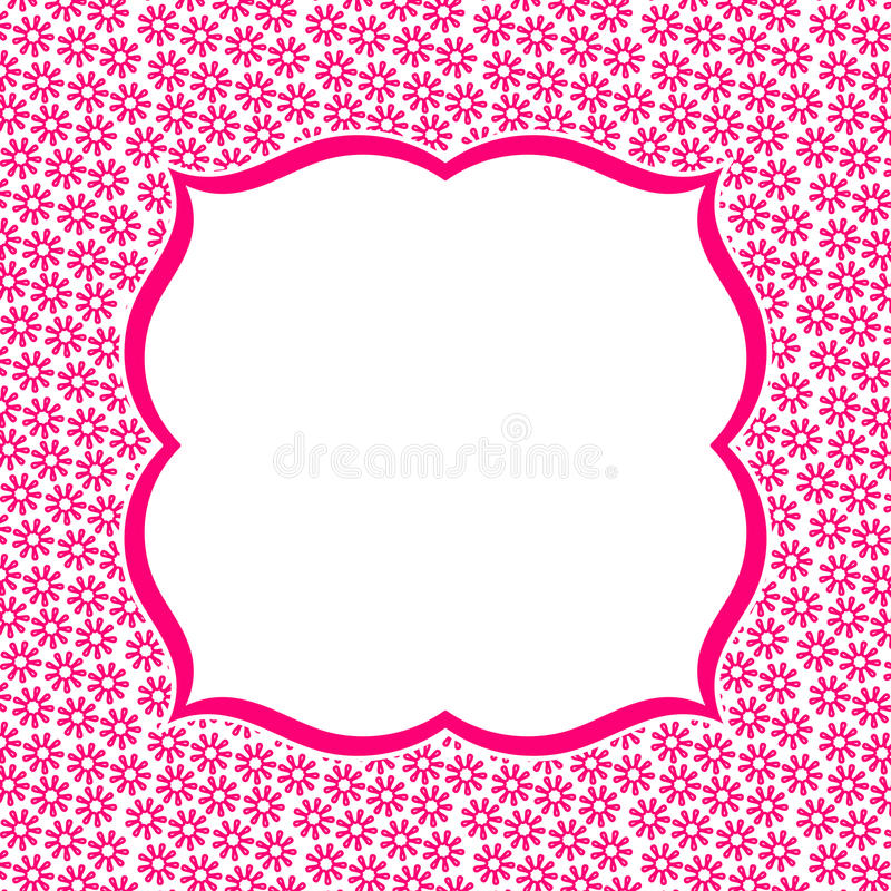 Pink flowers invitation card stock illustration