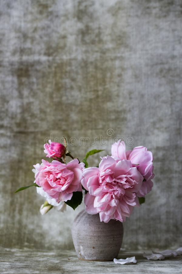 Pink Flowers On White Ceramic Vase Free Public Domain Cc0 Image