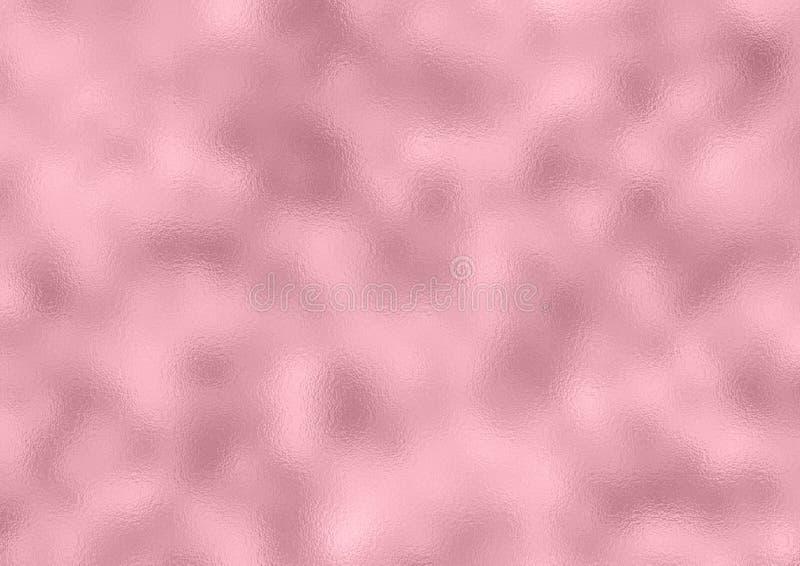 Pink Foil Background, Rose Gold Metal Stock Photo