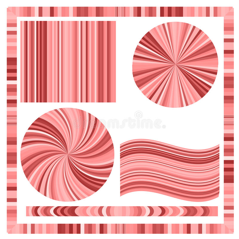 Pink Frame and Circles. On White Background vector illustration