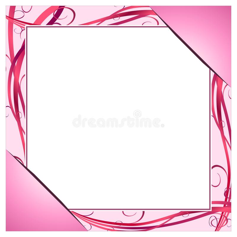 Pink frame stock illustration. Illustration of pink, corners - 37257457
