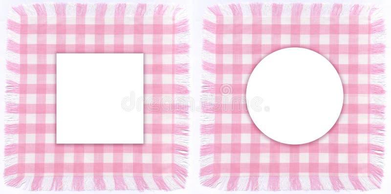 Pink frames stock photos