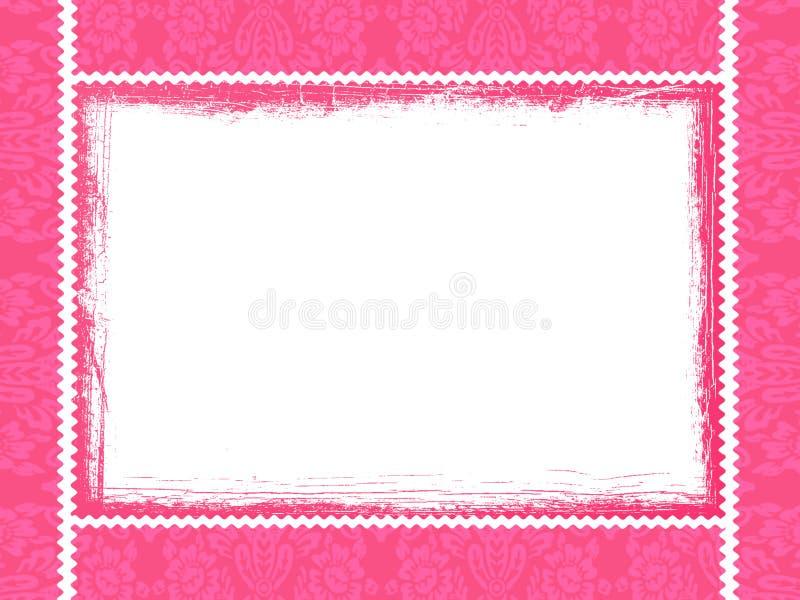 Pink framework. Hot pink framework with ornaments royalty free illustration