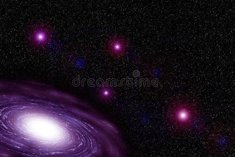 Pink Galaxy. Galaxy of Pink with cloud royalty free stock photography