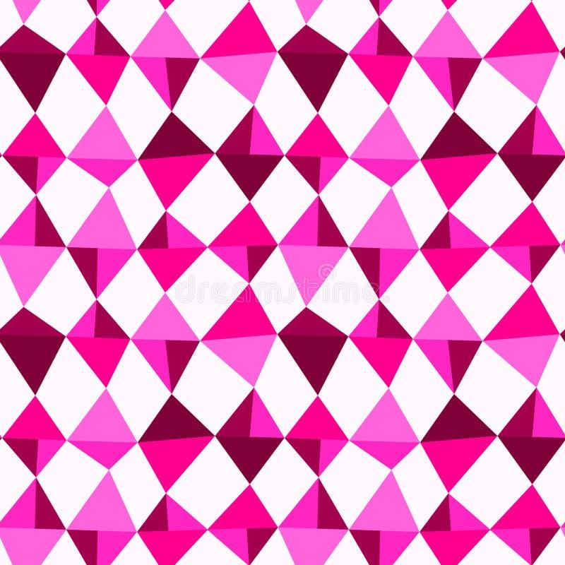 Pink Gemstones Seamless Background stock illustration