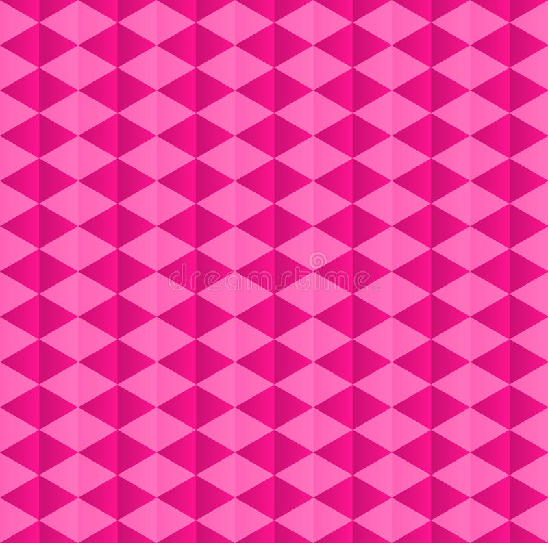 Pink geometric pattern of rhombuses stock illustration