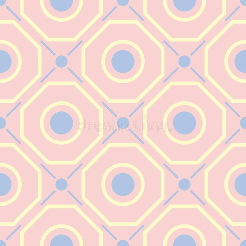 Pink geometric seamless background. Multi colored pattern royalty free illustration