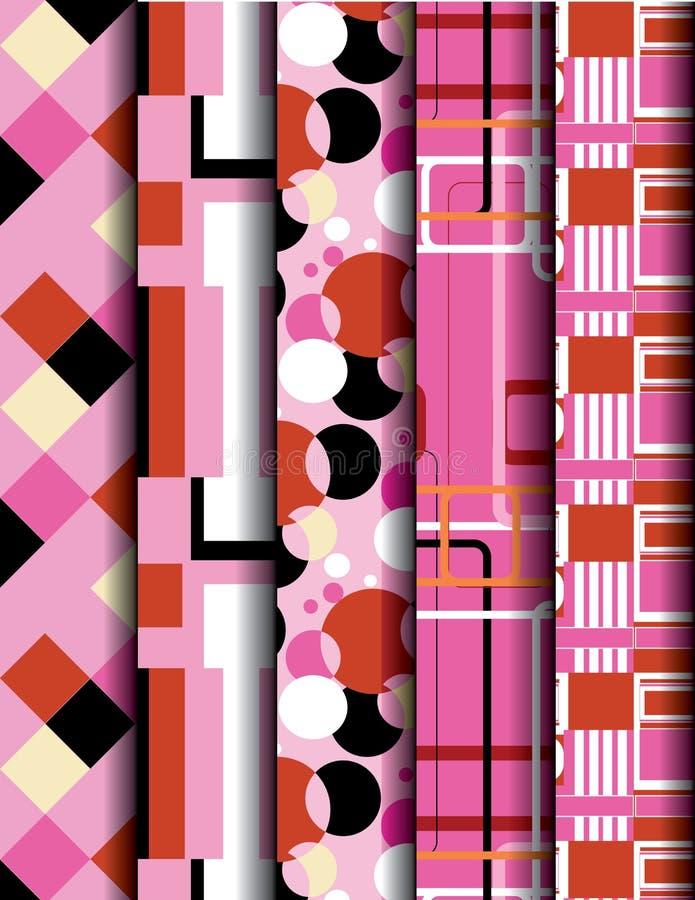 Pink geometry pattern royalty free illustration