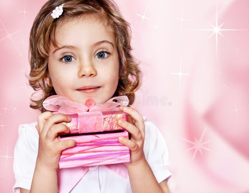 Pink gift stock photos