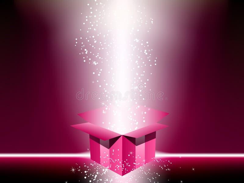 Pink gift box royalty free illustration