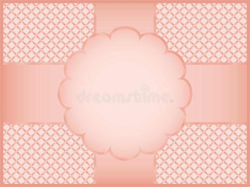 Pink gift wrapper vector illustration