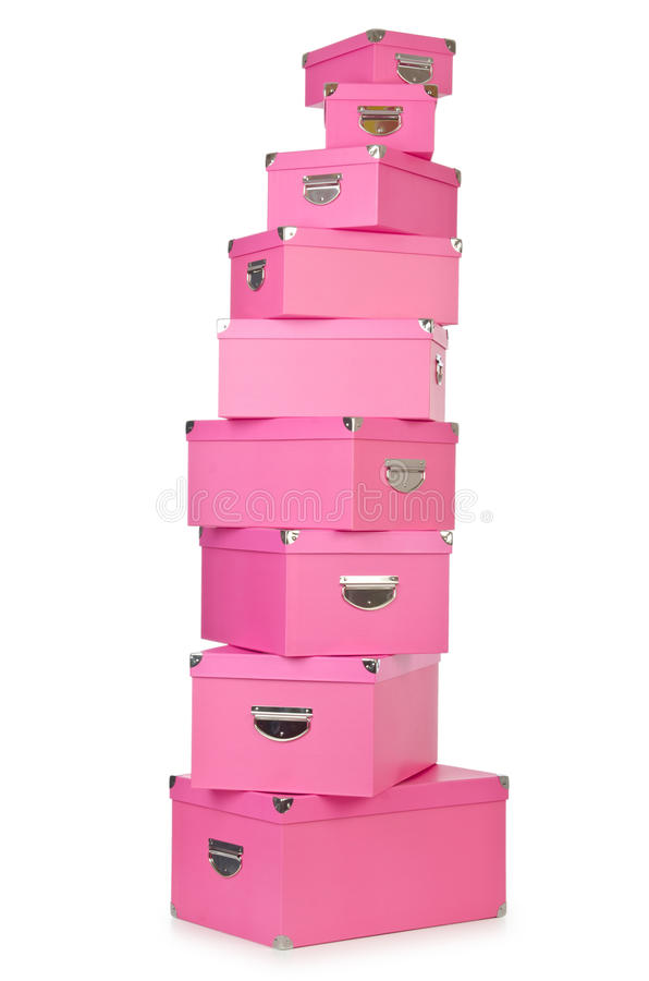 Download Pink giftboxes stock image. Image of chests, out, party - 27493097