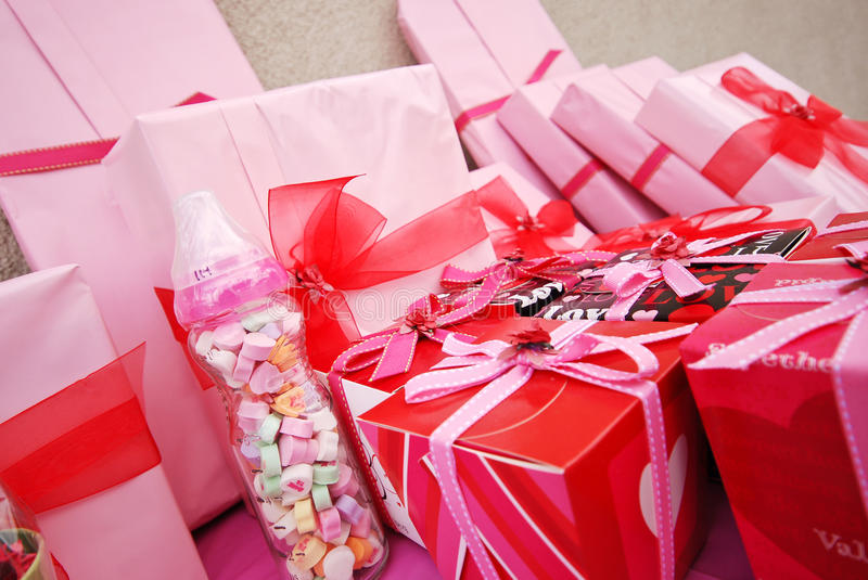 Download Pink Gifts stock image. Image of baby, event, shower - 23629311