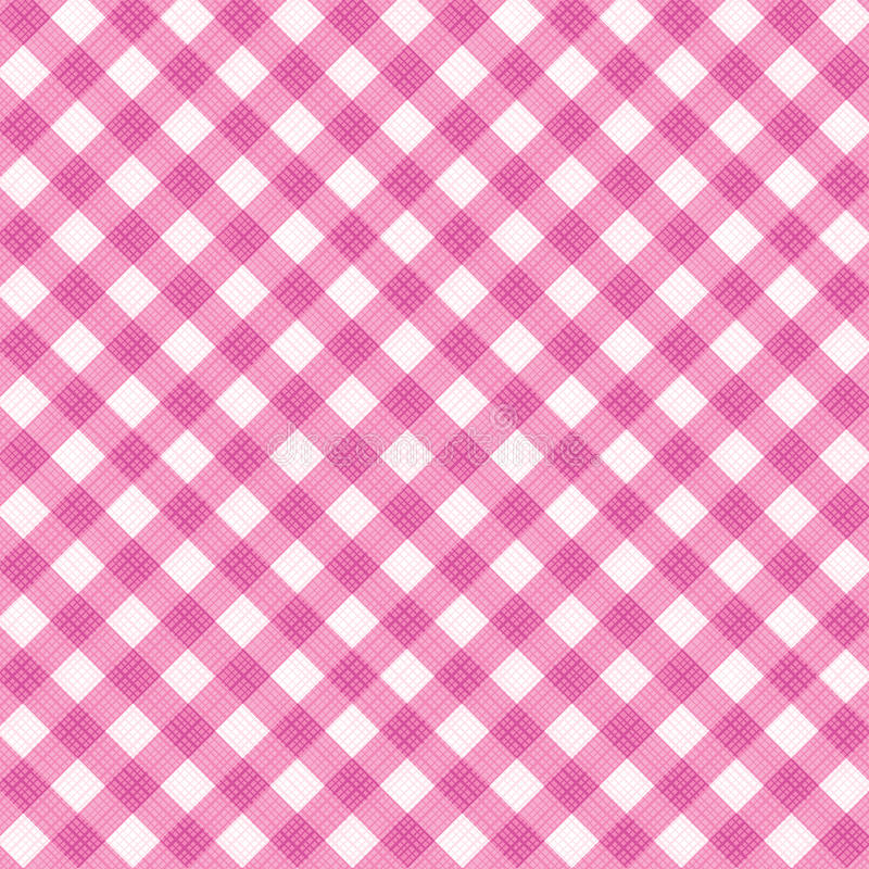 Free Pink Gingham Fabric Cloth, Seamless Pattern Included Royalty Free Stock Image - 28784286