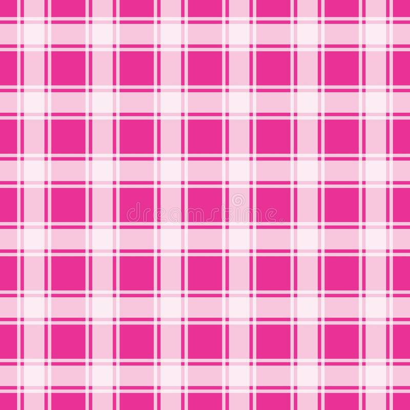 Pink gingham pattern, geometric background vector illustration