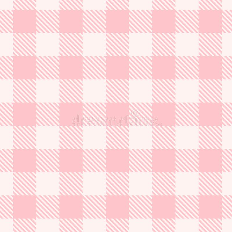 Free Pink Gingham Pattern. Vector Seamless Texture. Royalty Free Stock Photo - 114016375