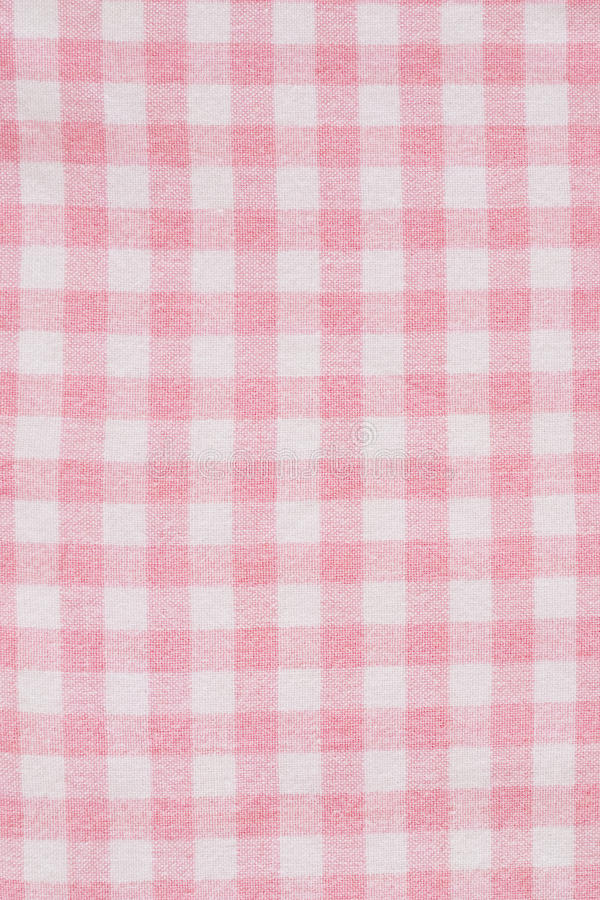Pink gingham textile. Trendy checkered pink gingham textile stock photos