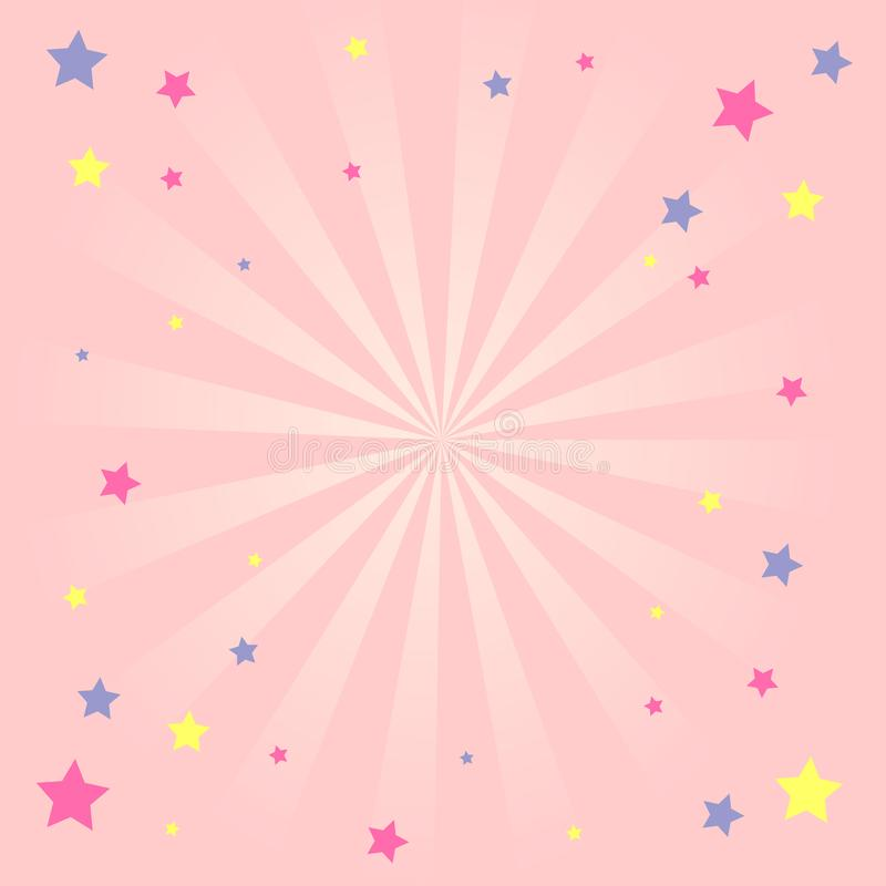 Free Pink Girlish Background With Stars Royalty Free Stock Photography - 143296737