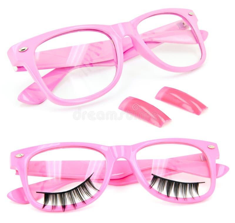 Download Pink Glasses False Eyelashes Fake Nails Stock Image - Image of ladies, eyewear: 19394755