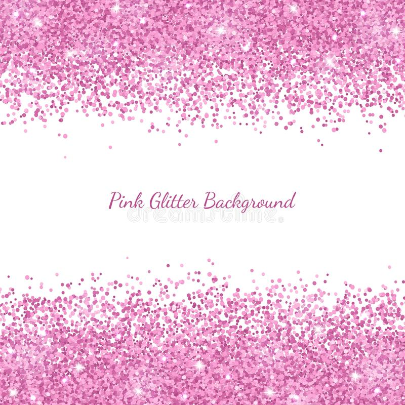 Free Pink Glitter Border Placer On White Background. Vector Royalty Free Stock Photography - 114545887